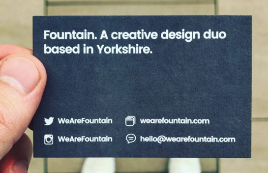 Fountain Business Card