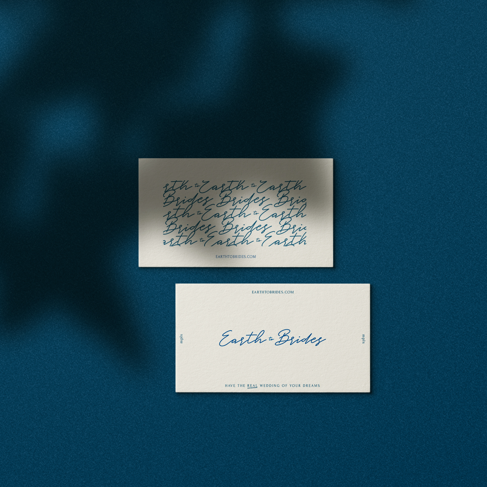 Earth to Brides business card