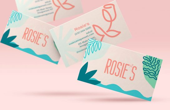 Rosie's Amagansett business card