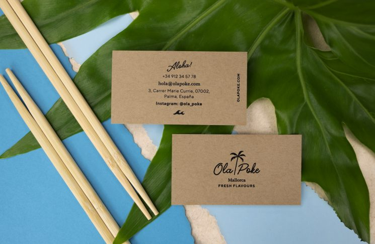 Ola Poke business card