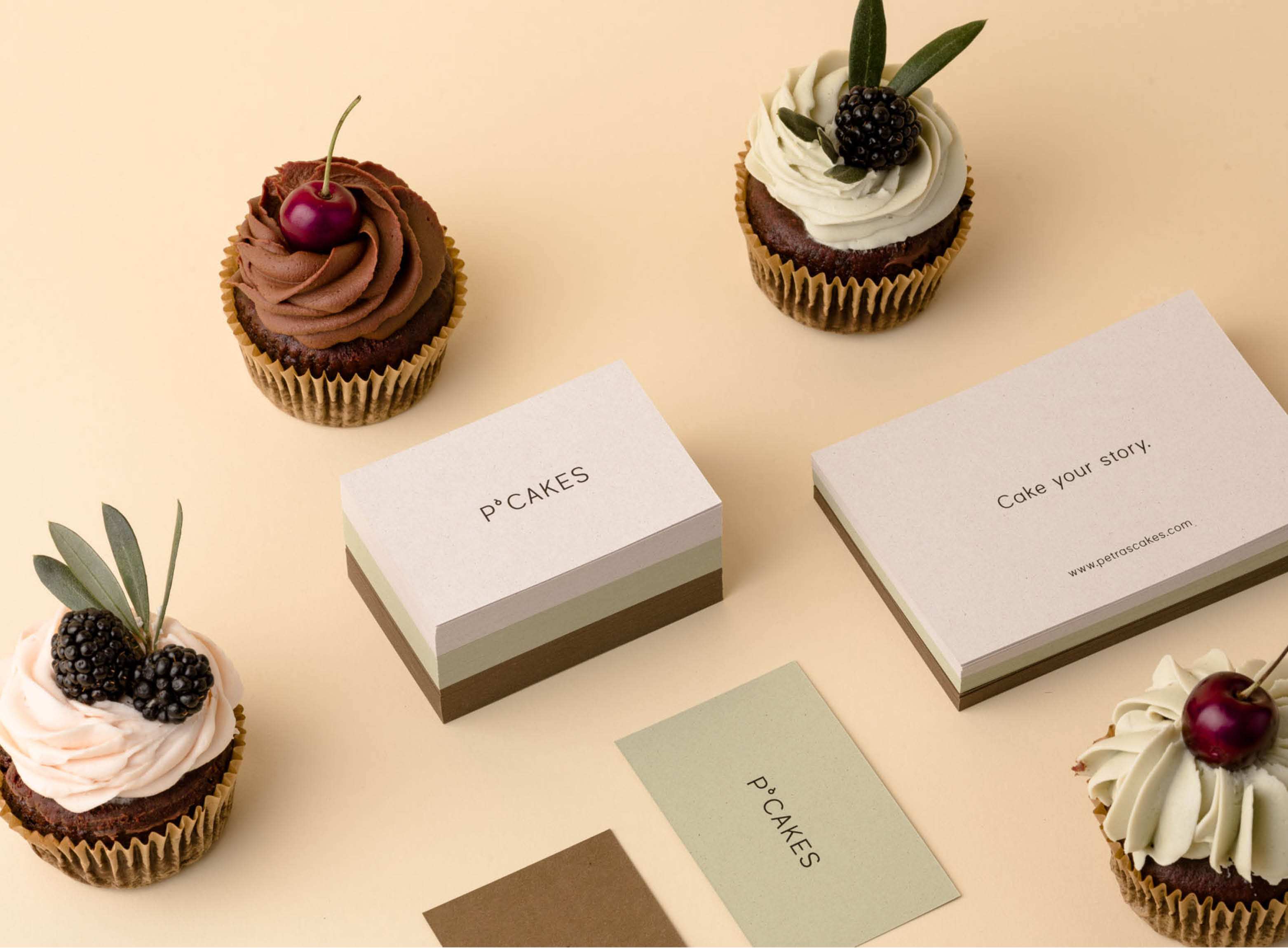 P'cakes business card