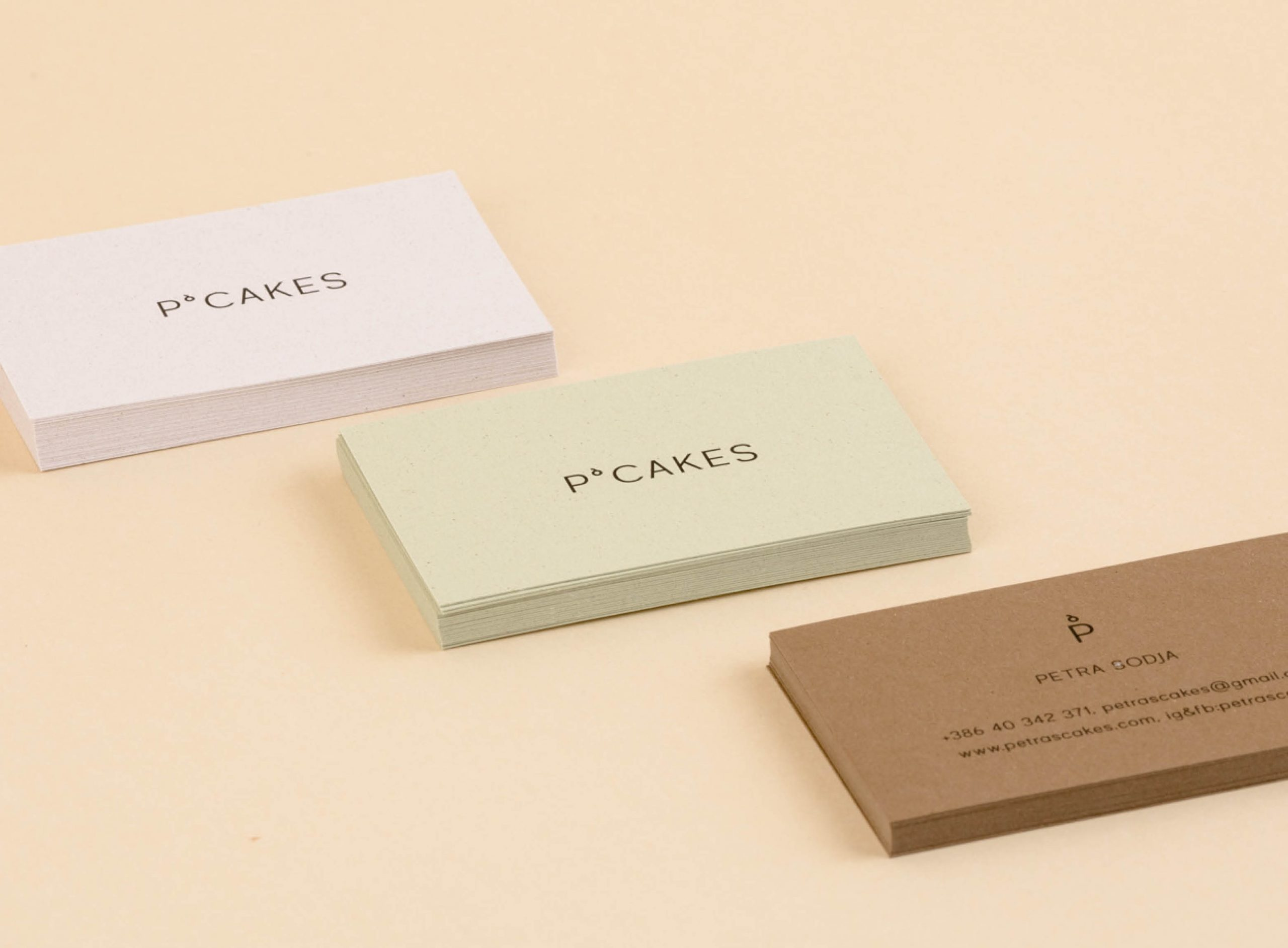 P'cakes business cards