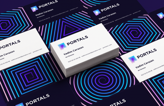 Portals business card