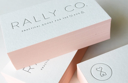 Rally Co business card