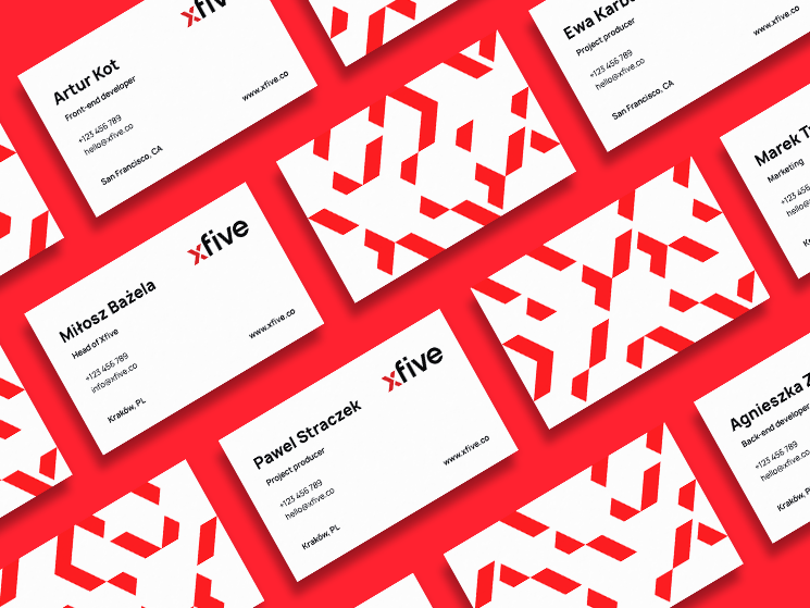 XFive business cards