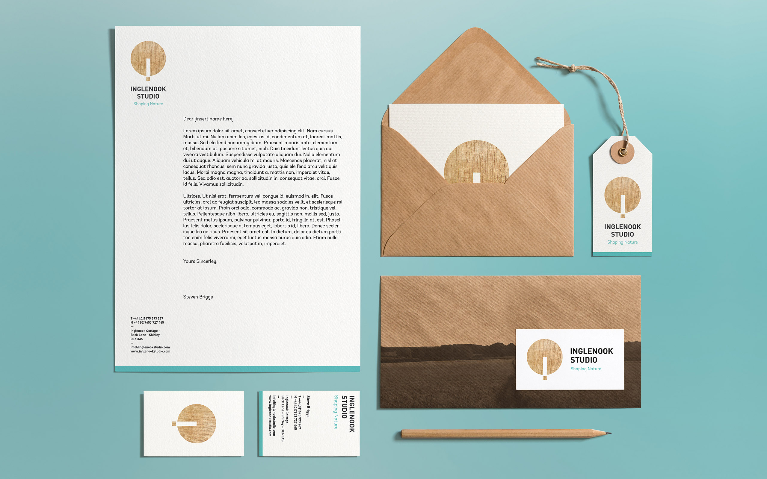 Inglenook Studio stationery