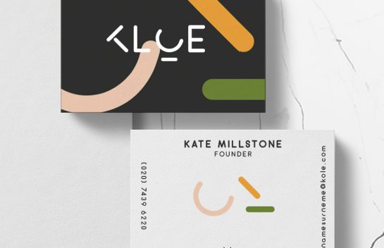 KLOE business card