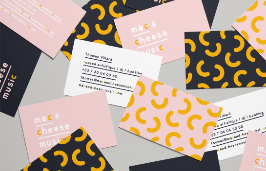 Mac & Cheese business card