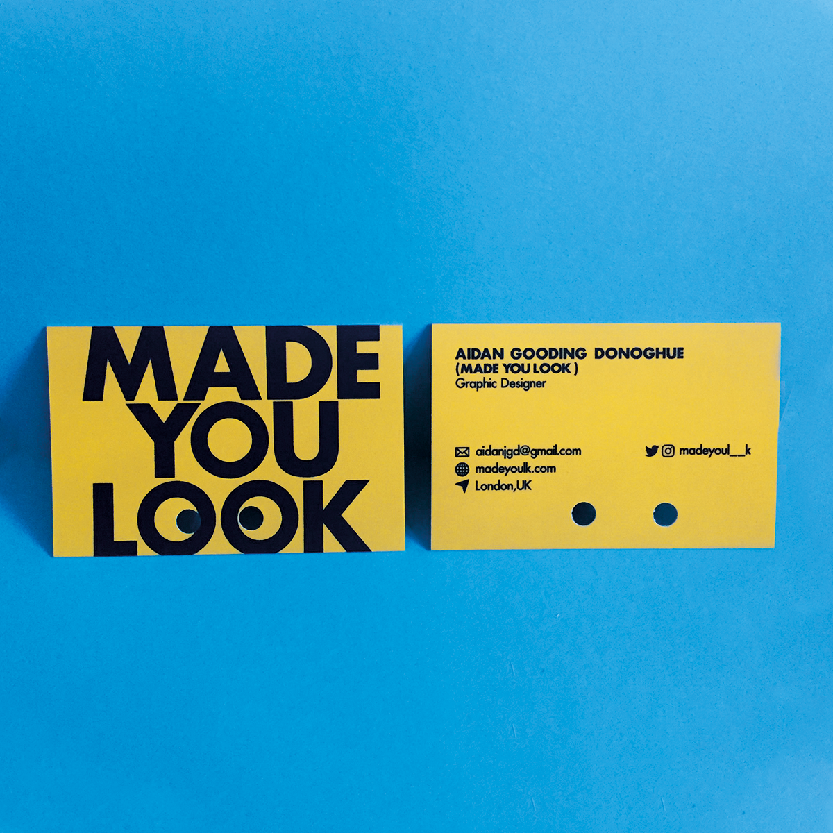 Made You Look business card