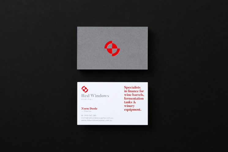 Red Windows business card