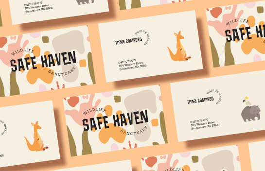 Safe Haven business card