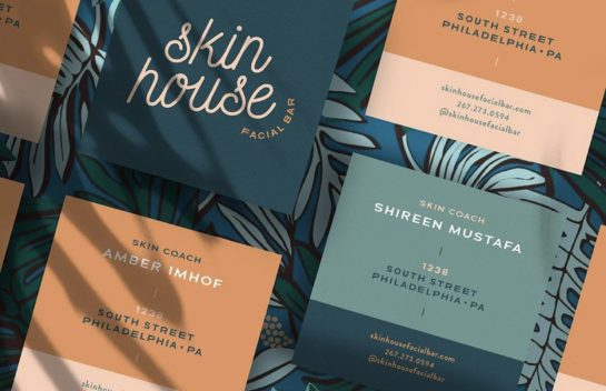 Skin House business card