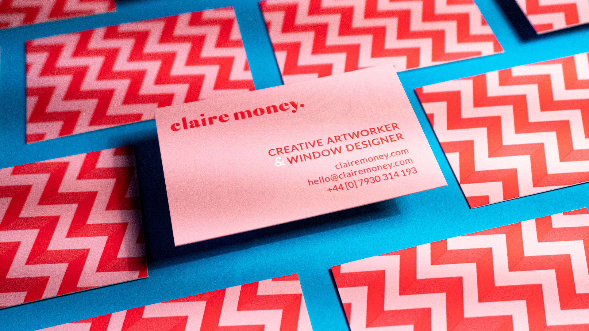 Claire Money business card