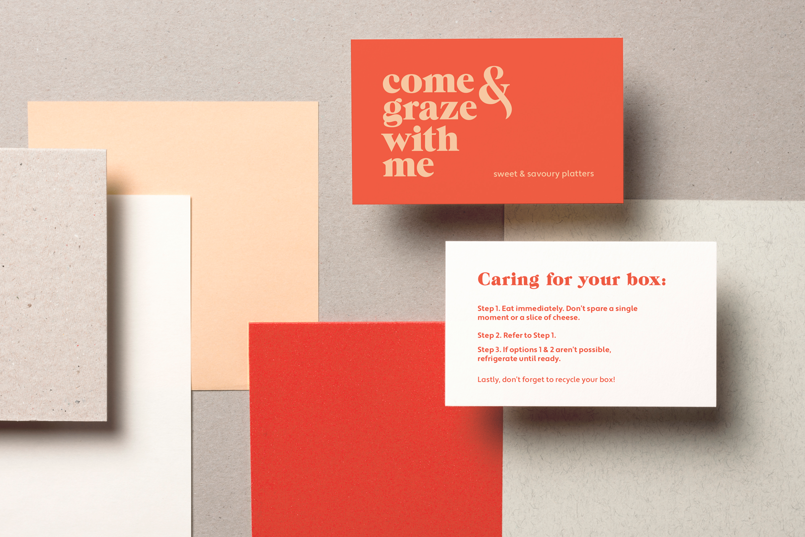 Come & Graze With Me care cards
