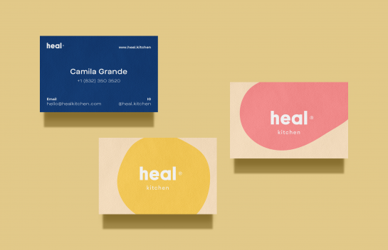 Heal Kitchen business card