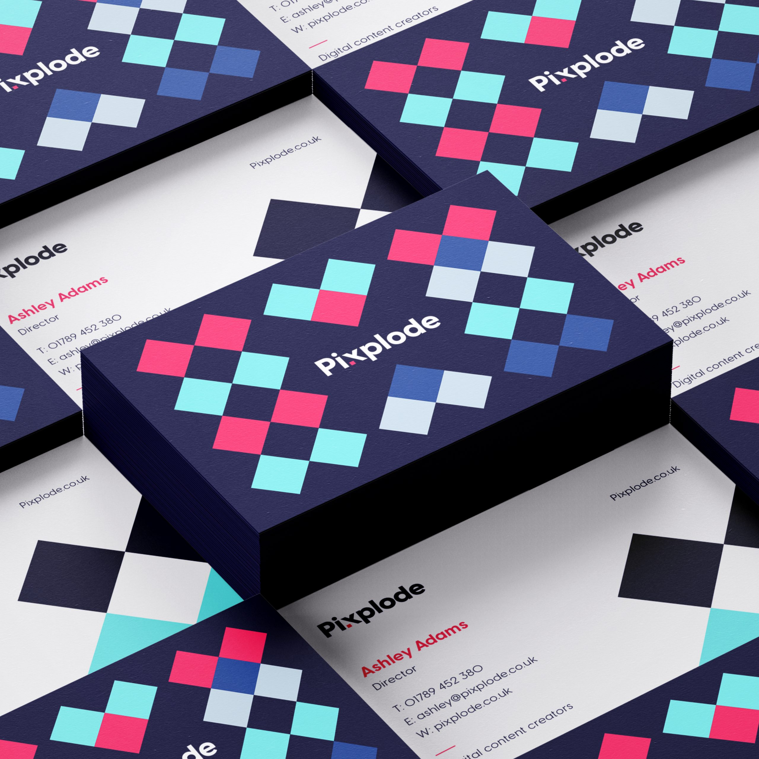 Pixplode business card