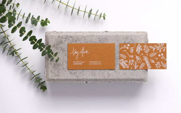 Today Flower business card