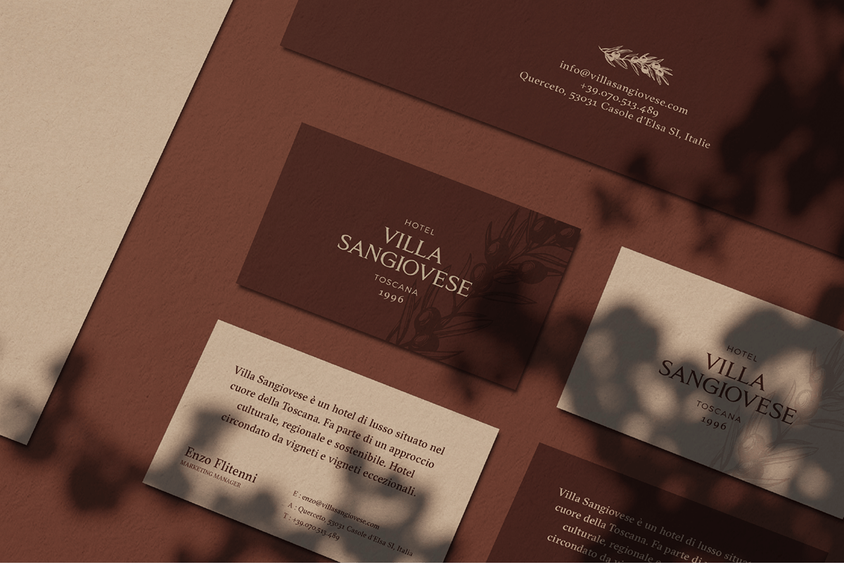 Villa Sangiovese business cards