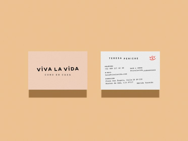 Viva La Vida business card