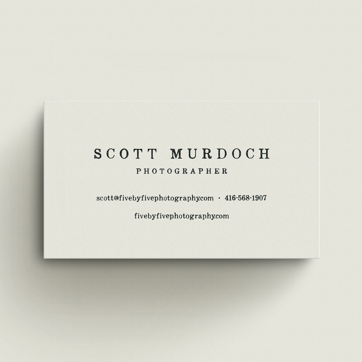 Five by Five business card2