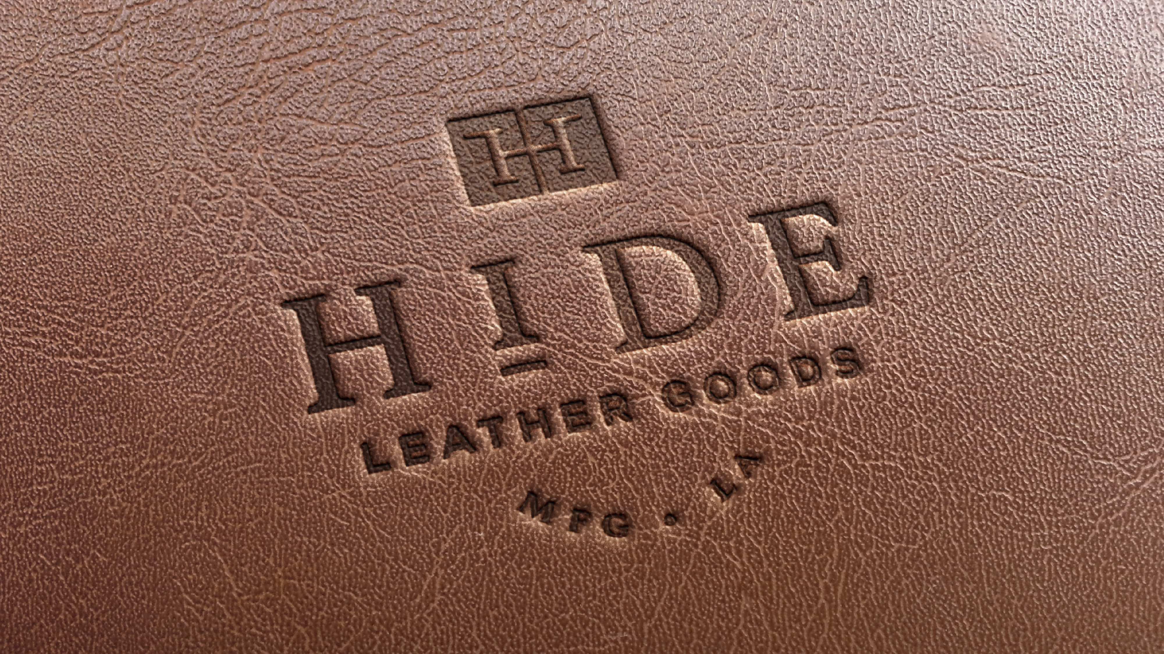 Hide leather goods