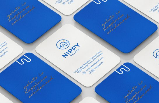 Nippy Gelato business cards