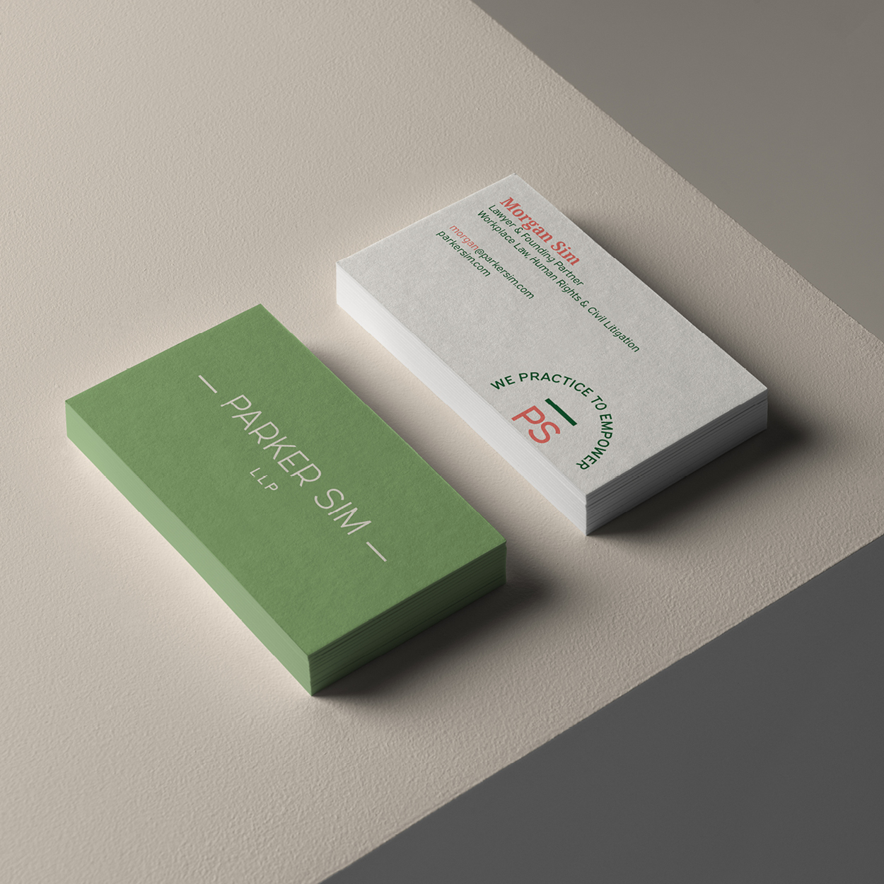 Parker Sim business cards