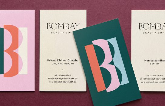 Bombay Beauty Loft business card