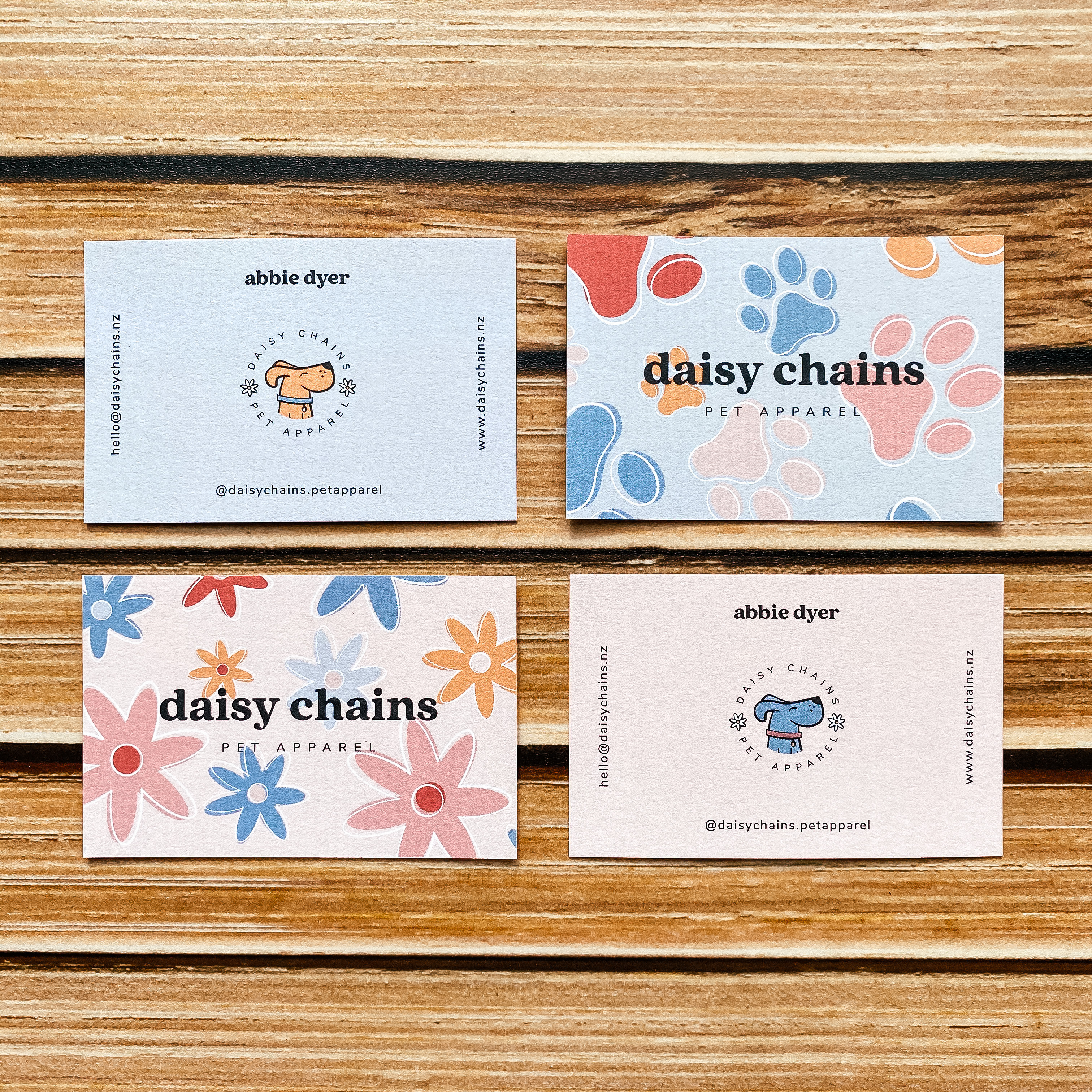Daisy Chains Pet Apparel business card