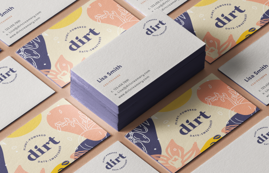 Dirt business cards