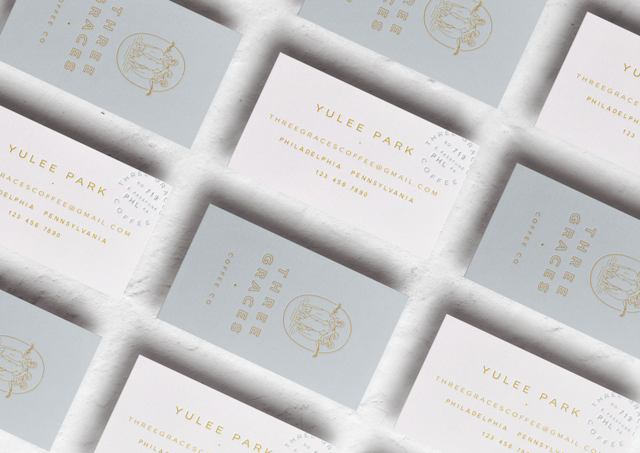 Three Graces Coffee business card
