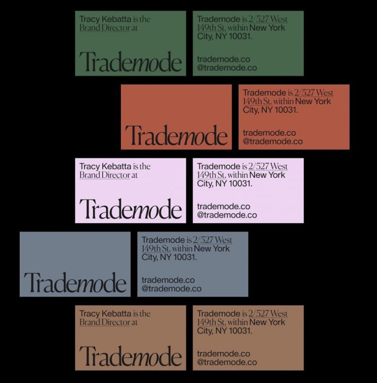 Trademode business cards