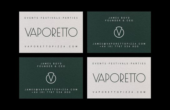 Vaporetto Pizza business card