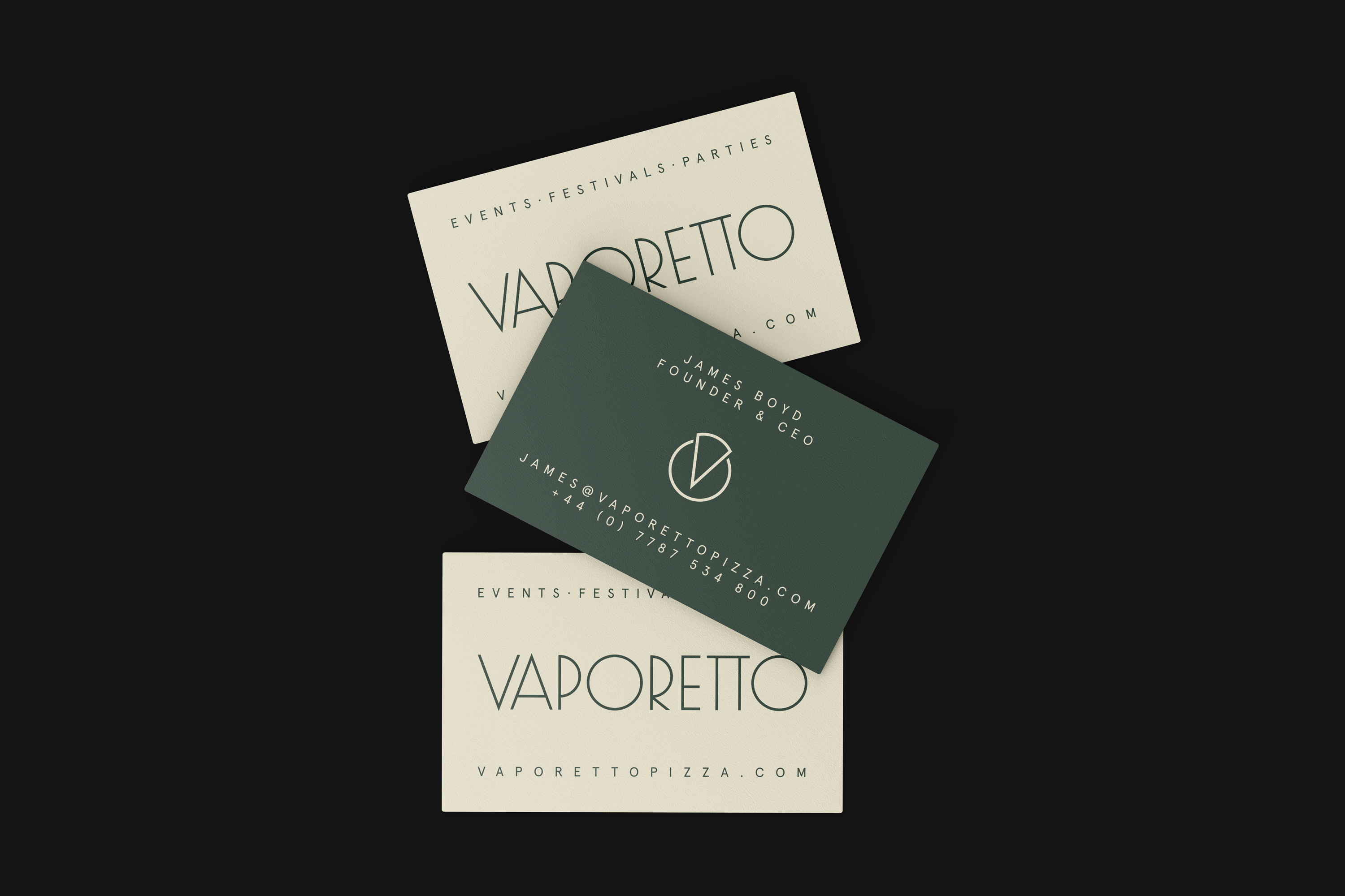 Vaporetto Pizza business cards