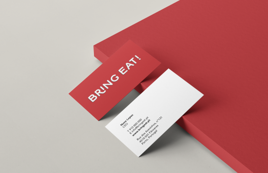 Bring Eat business cards