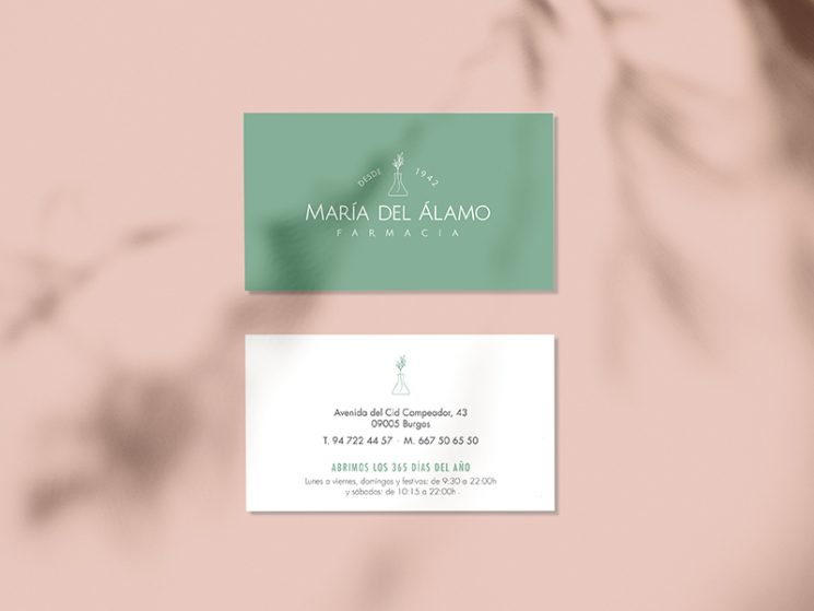 Maria del Álamo business card