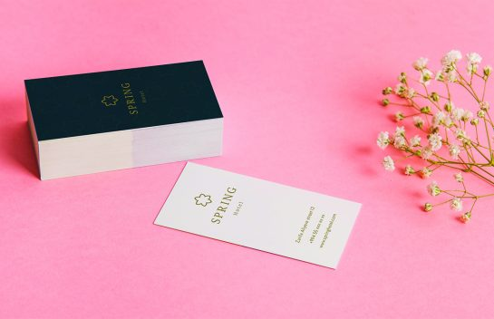 Spring Hotel business cards