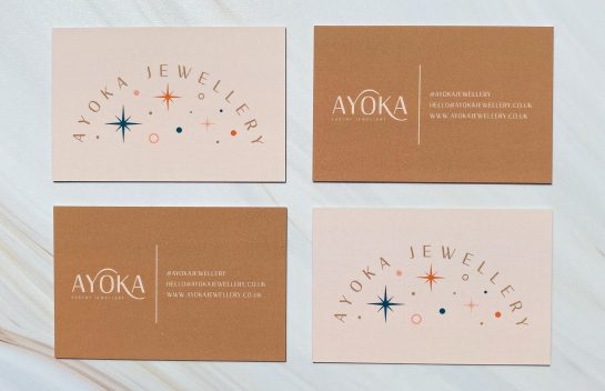 Ayoka Jewellery businesscard