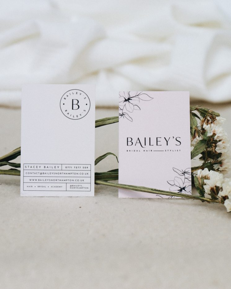 Bailey's Northampton business card