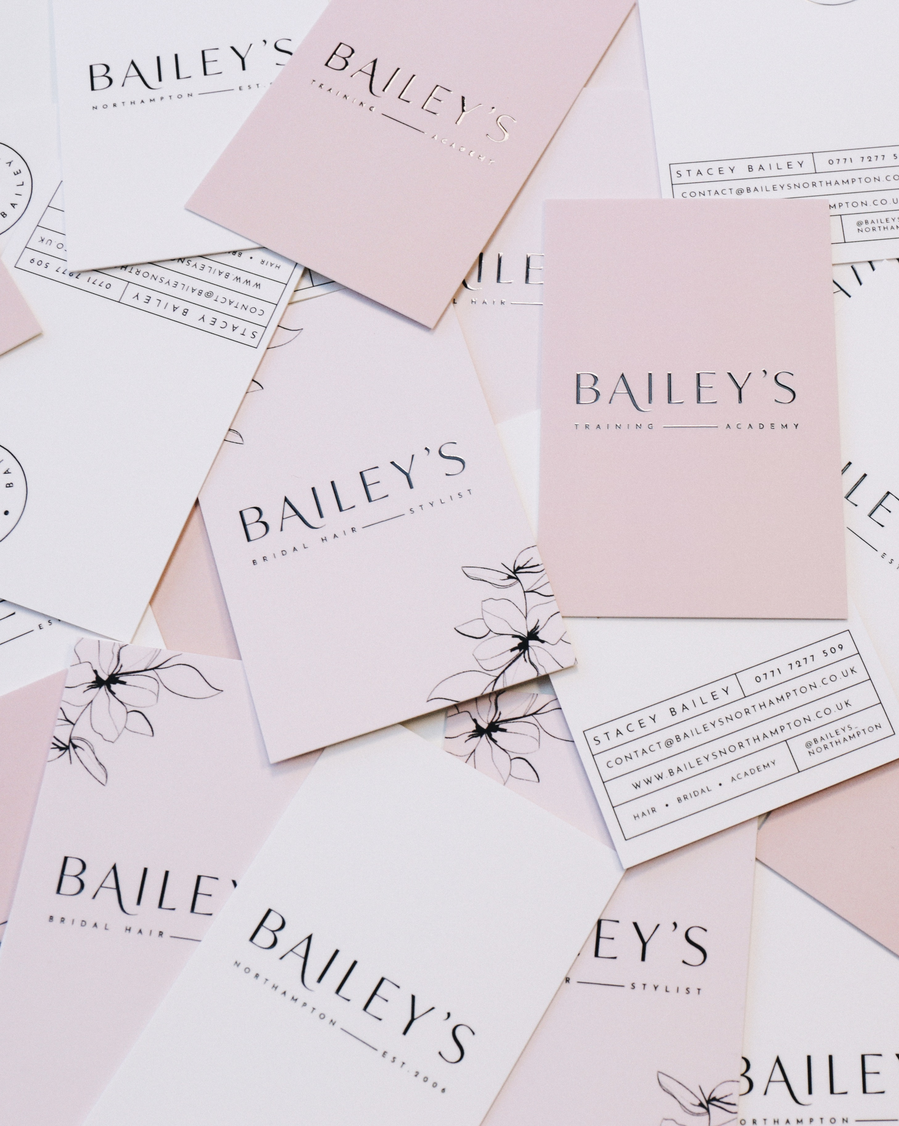 Bailey's Northampton business cards