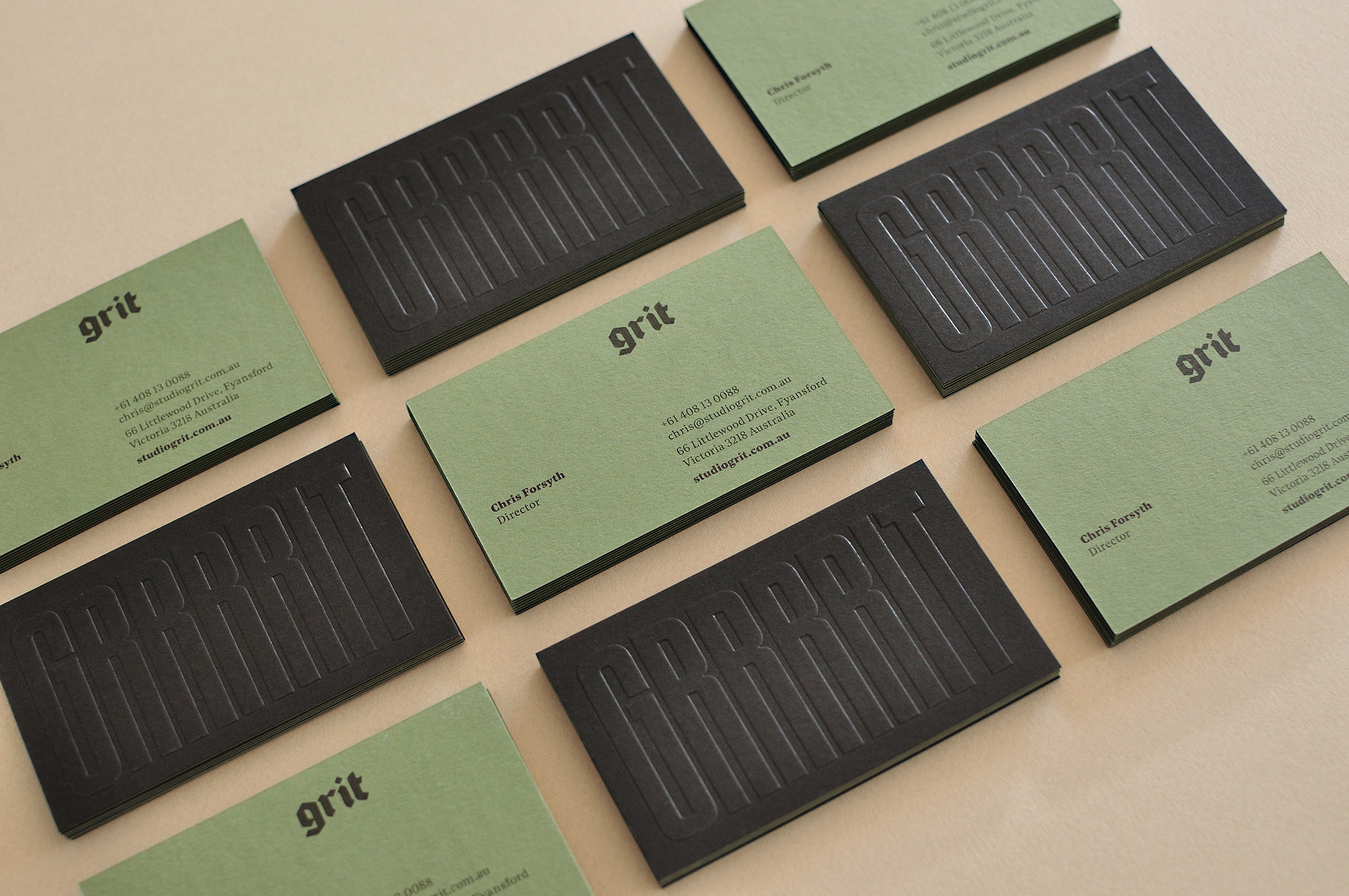 Grit business card
