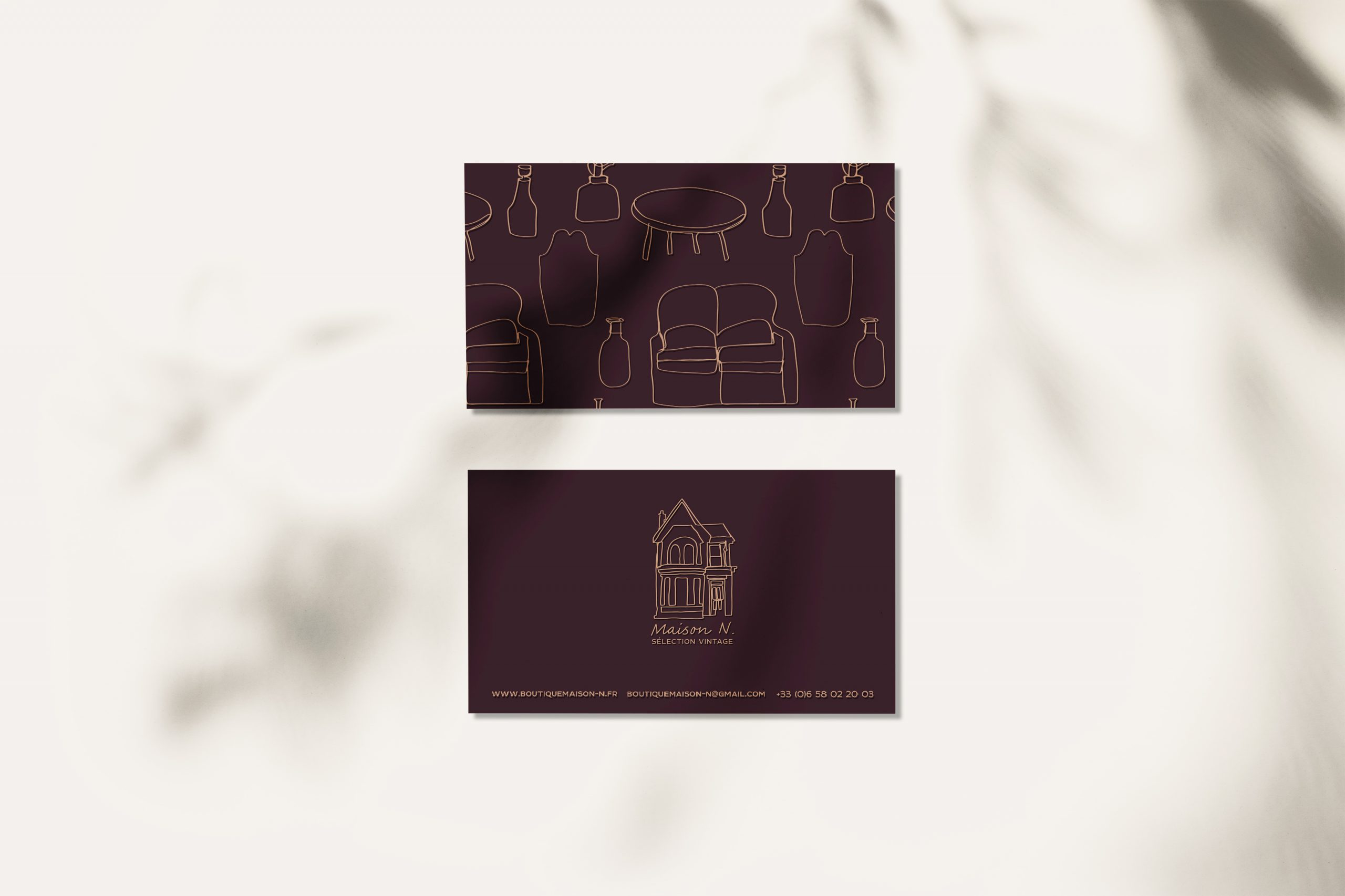 Maison N business cards