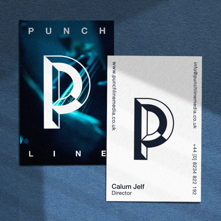 Punchline Media business card