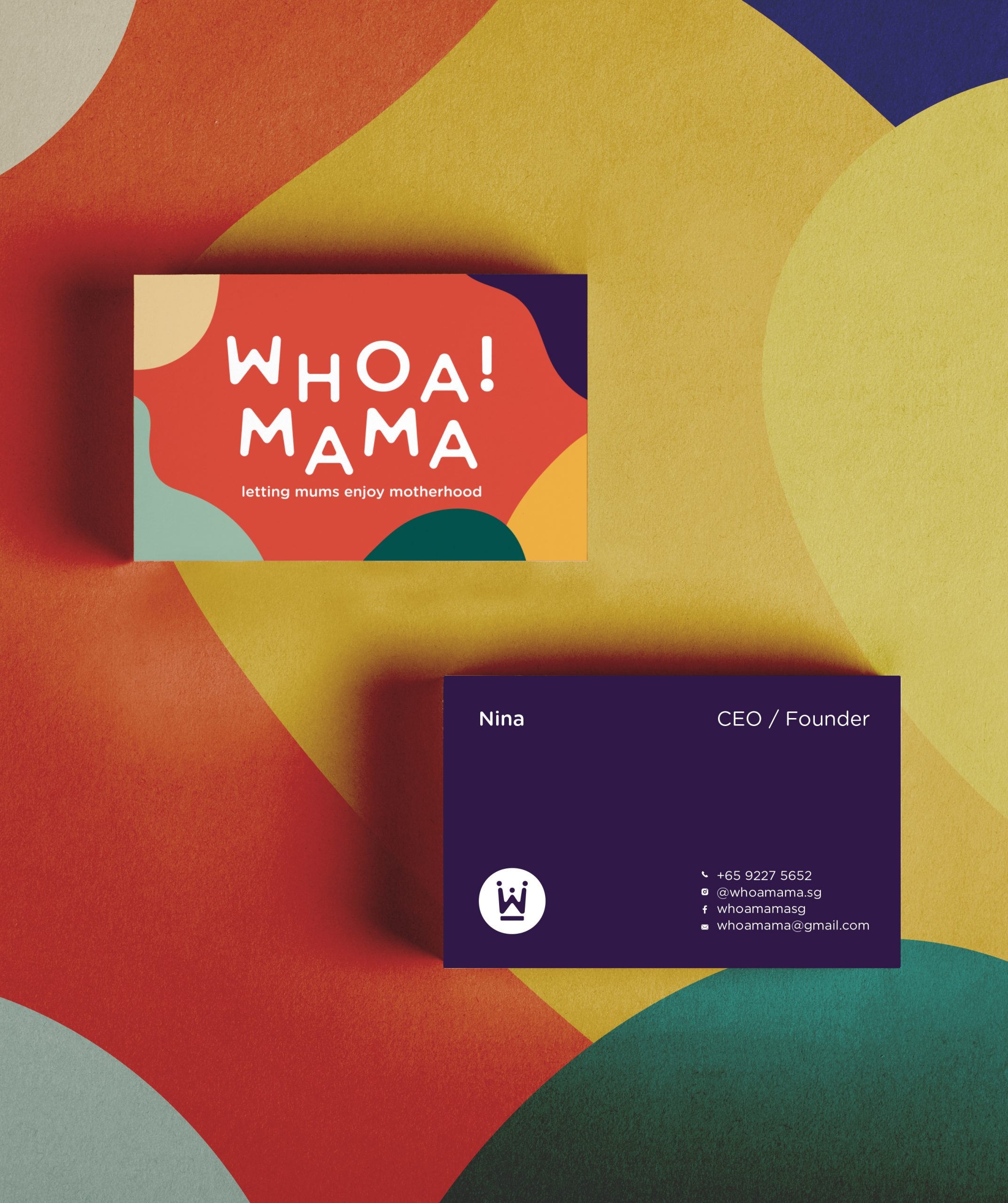 Whoa! Mama business card