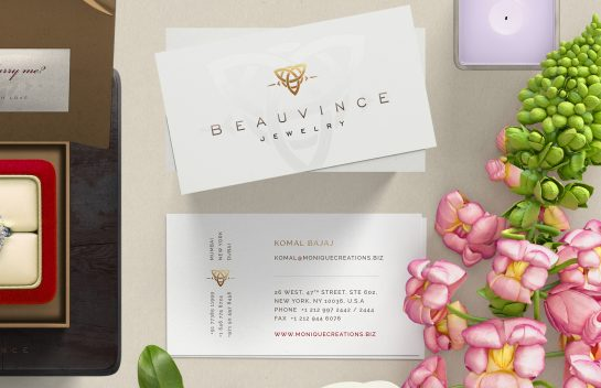 Beauvince Jewelry business card