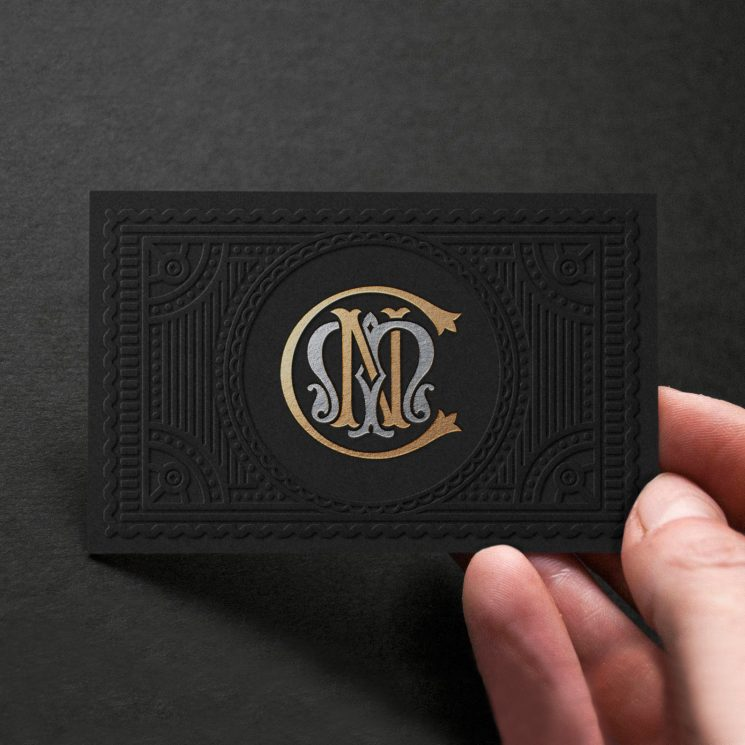 C N Millinery business card