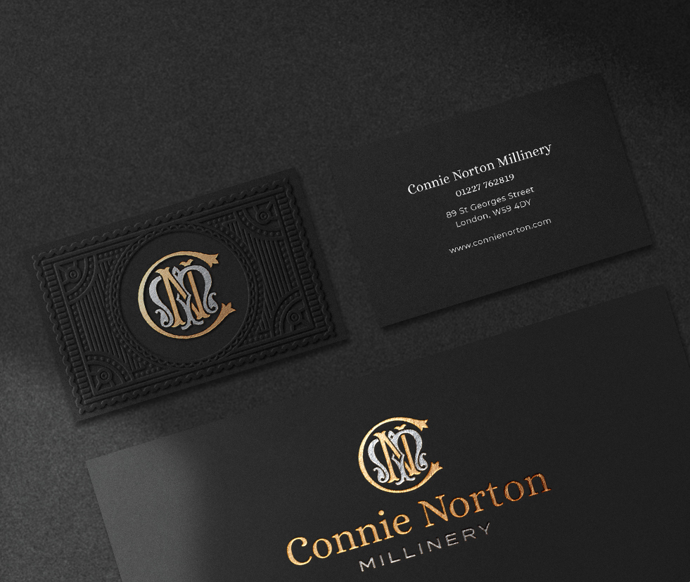 C N Millinery businesscard