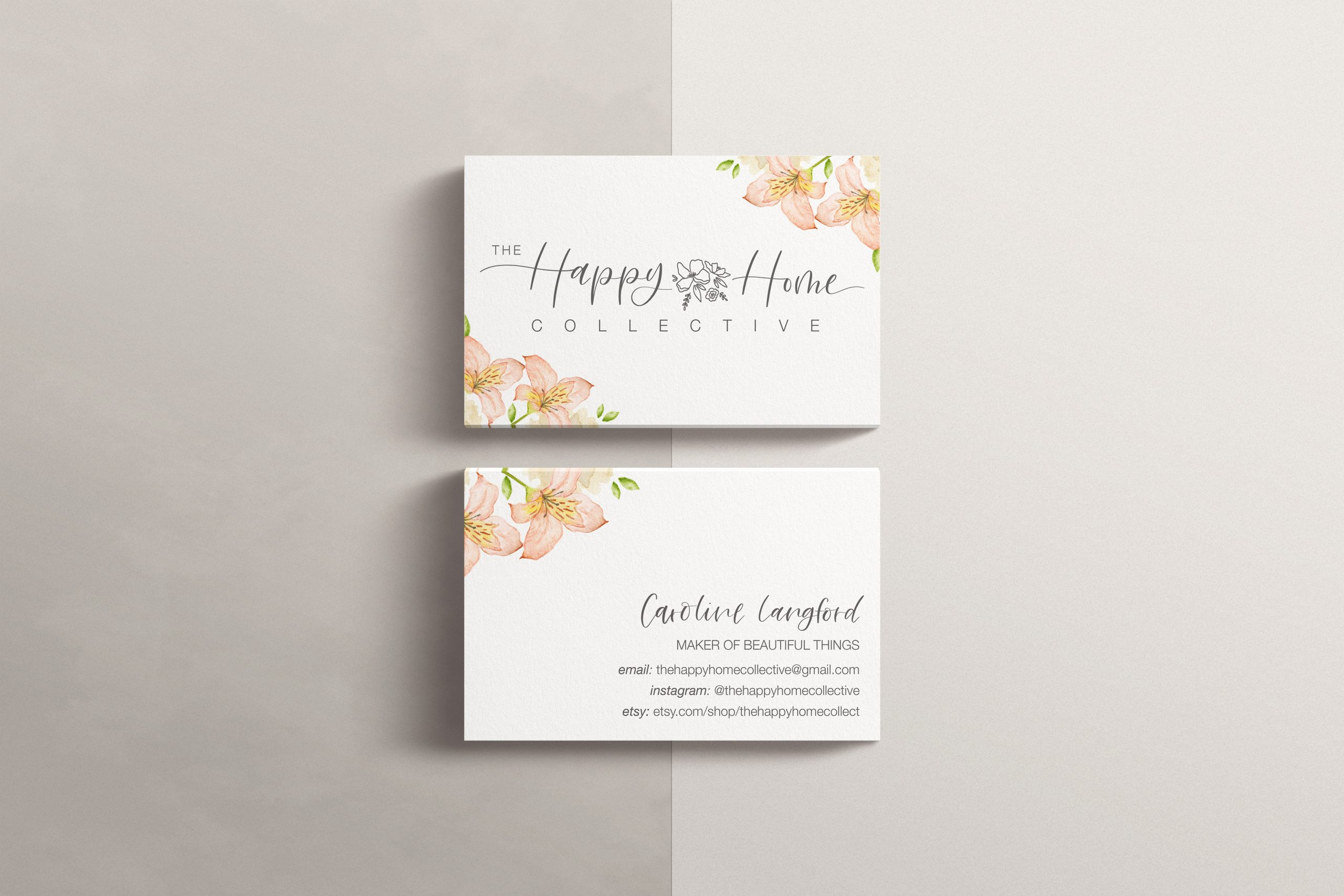 Happy Home Collective business cards