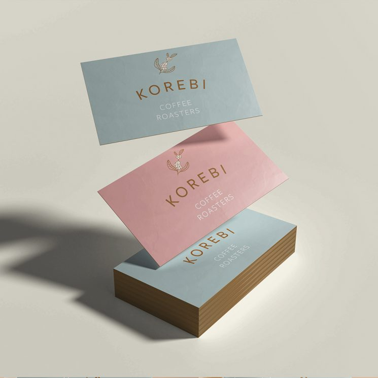 Korebi Coffee Roasters business cards