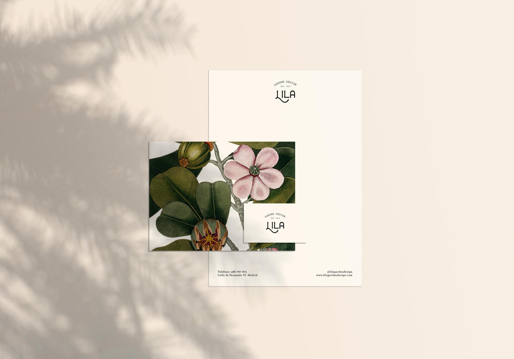 Lila stationery
